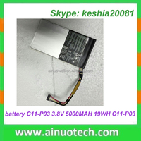 laptop battery for asus a32-1015 3.8V 5000MAH 19WH P/N: C11-P03 notebook lithium battery