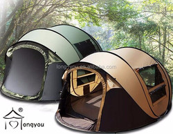 Large automatic camping tent rain proof tent family camping tent