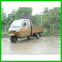 South America Cheap Heavy Load Full Closed Driver Cabin Cargo 250CC 3 Wheel Tricycle