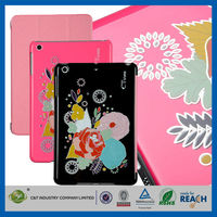 C&T Wholesale 2015 latest bloom printing leather case cover for ipad mini 2