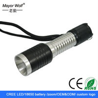 new product on china market aluminum material cree xm-l t6 led flashlight for hunting equipment