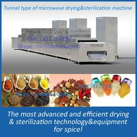 Belt type of spice microwave fumigation machine/sterilizing machine