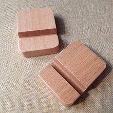 80*60*20mm Mini Wood Mobile Phone Stand Holder Simple Style ,Desktop Decoration Cell Phone Holder Wooden