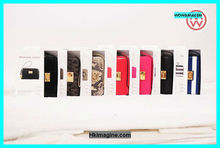 Hot Sale MK wallet zipper leather case with genuine for Apple Iphone 4/4s,5