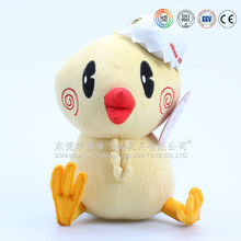 Fashionable stuffed plush yellow chicken toys