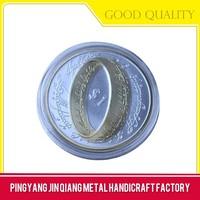 Novelty fashion enamel gold coin ring