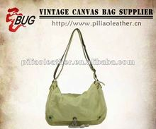 2012 latest washed twill messenger bag/twill school bag/fashion messenger with stud details