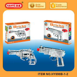 Free self-assembly 3d pistol metal model puzzle toys for kids