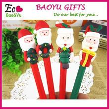 New Design Christmas Polymer Clay Pen Wholesale Can Custom Logo Promotional Ballpoint Pen Cheap Polymer Clay Pen Christmas Gifts