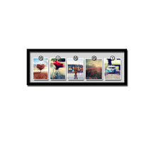 long or cube display plate holder picture frame clear plastic display clips family collage photo frame