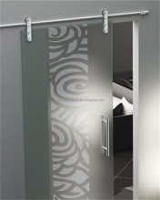 2013 New Article Frosted Frameless Sliding Tempered Glass Door(GS007)