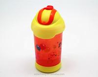 Children sport plastic water bottle with straw 350ML