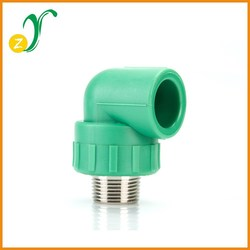 plastic high quality round head PPR Fittings male thread elbow