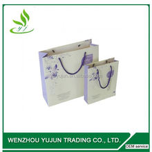 Offset Printing Fashion Blue Custom Paper Gift Bags, Printed Paper Packaging Bags For Promotion Gift