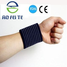 Wholesale Sports Adjustable Elastic Wrist Support Compression Wrist Band Made in China