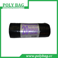 Roll 20 Microns High Quality Plastic Garbage Bags with Paper Label