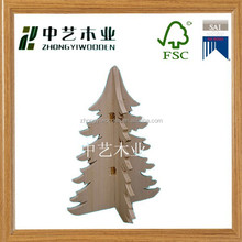2015year china suppliers FSC&SA8000 decorative wooden christmas trees gifts crafts Christmas for wholesale