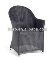 Black Wicker High Back Outdoor wicker furniture rattan chair