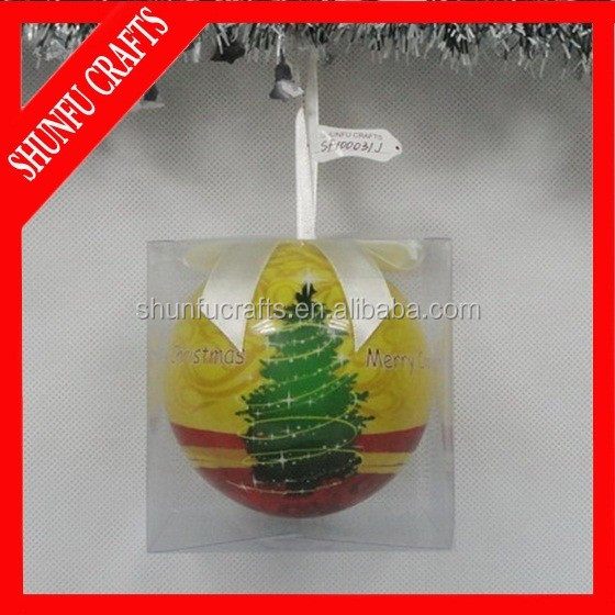 Factory Wholesale Round Balls Christmas Ornaments