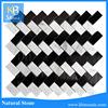 New design black and white herringbone home decorative tile