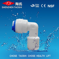 K4044 push in Elbow RO water Fitting/K4044 plastic quick ro fittings