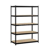 Blue Coated Steel Warehouse Goods Rack Steel Medium Duty Rack Metal Goods Shelf