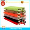 Soft cell phone power bank pouch velvet bag for mobile phone