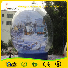 0.8mm thickness pvc and 0.9mm thickness pvc tarpaulin inflatable snow globe, snow tent with the strong base