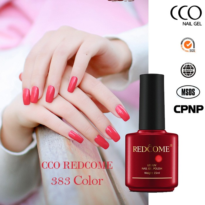 Redcome 383 colores gel uv soak off gel polaco uñas Etiqueta Privada gel