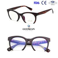 Cat eye Fashion Good quality Korean Half rim PC optical frame