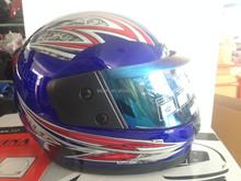 BLACK BLUE HELMET WITH VISOR motorcycle full face helmet