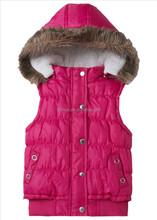 2014 keep warm fancy girls hoddy casual sleeveness jacket winter sleeveness jackets