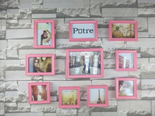 Wholesale Cheap Color Plastic Green Photo Frame Custom Size Picture Frame Black