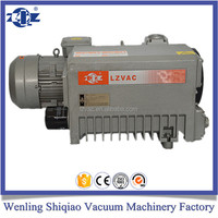 Single stage rotary vane vacuum pump for electric fuel pump