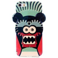 Electroplating Untrathin 3D Carton Robot Soft Protective TPU Case for iPhone 5 5S