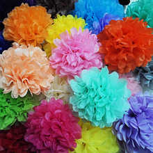 "5pcs 8"" (20cm) Tissue paper pom poms Wedding decoration kids birthday party supplies decorative flower A188"