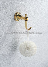 Golden bath puff for bathroom accessories/bathroom accessories