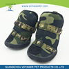 Soft and comfortable army green dog boots wholesales pet products