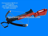 Wood stock compound rifle crossbow for hunting