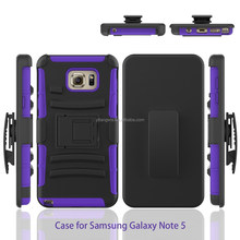 PC+silicone 3in 1 combo holster case super combo for Samsung Galaxy Note 5