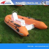 RIB Inflatable speed fishing sport boat fiberglass boat hulls for sale