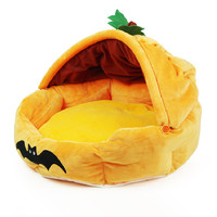 pumpkin shaped indoor dog house bed