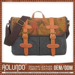 Original Design Custom Canvas & Leather Bag Qingdao
