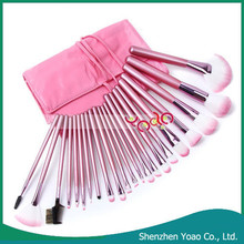 Best Hot Sale 22pcs Professional Cosmetic Makeup Brush Set with Pink Bag