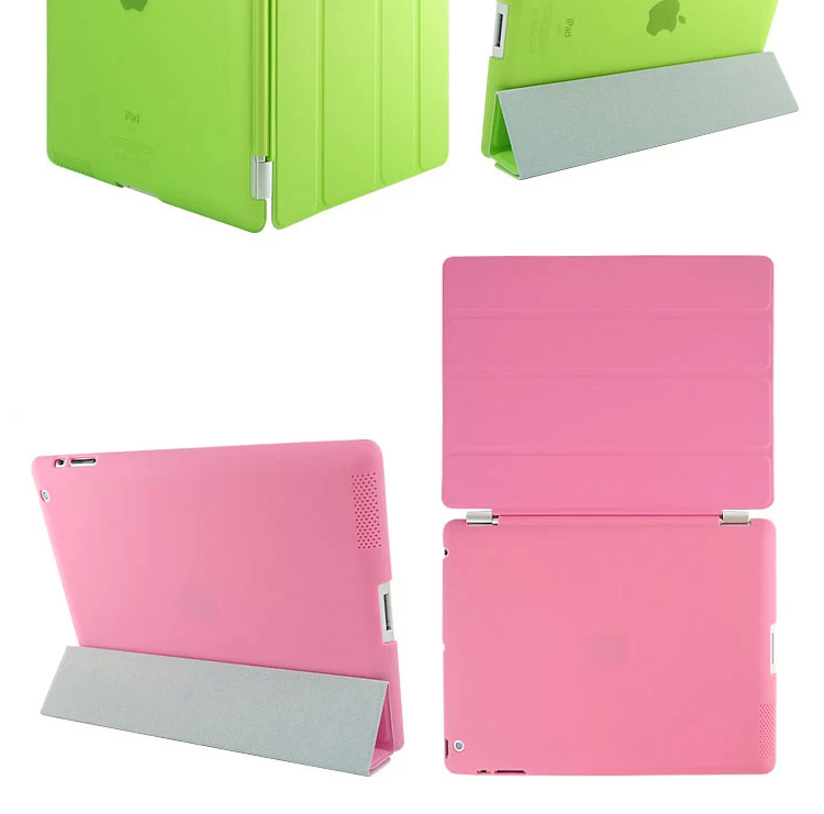 Ultra Slim Magnetic Leather Smart Cover For iPad 3 with Back Shell