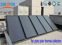high efficiency flat plate water heater solar heating panel with copper pipe