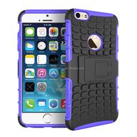 Rugged Anti-slip PC TPU Hybrid Case for iPhone 6 Plus 5.5 inch Kickstand case