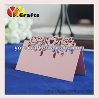 Personalized YOYO Laser Cut Heart style Wedding seat table Place Cards wholesale and retail