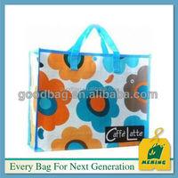China foldable PP laminated woven shopping bag MJ-PB012