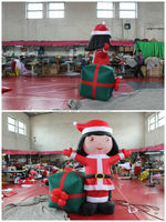2014 hot selling christmas decoration inflatable girl inflatable cartoon